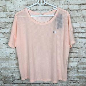 NEW Under Armour Light Pink Short Sleeve Shirt